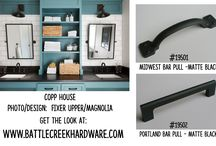 Bathroom Design / Looking for ideas for your bathroom renovation or new build?  Battle Creek Hardware is your source for stylish, affordable hardware and what will look best on your bathroom cabinets.