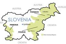 Slovenia - wine maps