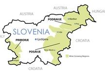 Slovenia - wine maps