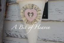 my valentines creations / http://www.abitofpinkheaven.blogspot.com