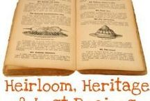 Heirloom Recipes / Do you have a favorite heirloom family recipe? If you're into genealogy I bet you're into saving family recipes or making your own recipe book.