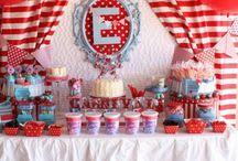 Festa Circo Vintage / Ideias de decoração, papelaria, brincadeiras para uma festa com tema Circo!