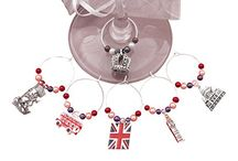 Country Wine Glass Charms / Different countries from around the world made into wine glass charms.