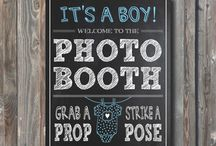 Baby shower photobooth