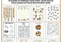 Visual perception/discrimination worksheets