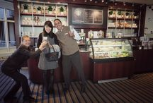 Glass House Café: Happy guests - happy us. / We love to see our guests smiling and beeng happy :) Please join us for some coffee or delicious snacks at our Glass House Café.