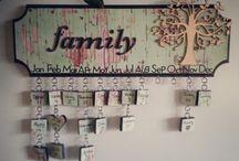 Aniversary family calendar