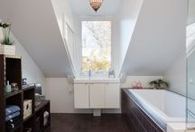 Łazienka na poddaszu / Dormers in bathroom / Wygodna łazienka na poddaszu dzięki zastosowaniu LUKARN / Attic bathroom with dormers