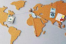Mapa mundi corcho