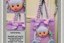 SewChildlike Bags / Some of my handcrafted knitted and cloth bags