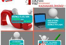 BİR FİKRİM VAR! / Bizimle ilgili bir fikriniz mi var ? 50 TL kazanabilirsiniz. Ayrıntılı bilgi: http://www.turkuazavm.com/fikrimvar