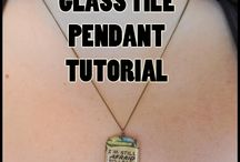 Glass Tile Jewelry Tutorials / Making glass tile jewelry is a LOT of fun. Here's some ideas to get you started! Visit us at eCrafty.com for glass tile jewelry supplies.