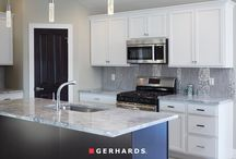 Contemporary Kitchen & Bath with Shine & Elegance / Home featuring Kemper Echo cabinetry and KOHLER products exclusively.
