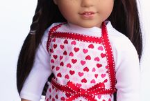 American girl doll apron