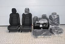 5x Neu Original Sitze Seats elekt.einstellbar Leder Lux Schwarze Porsche Cayenne 958