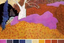 October 2014 - Art Bead Scene Monthly Challenge / Inspired by Milton Avery's Autumn