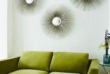 HOME :: Vibrant Velvet Sofas / Velvet sofas in vibrant colours. Try some drama to your living space.