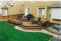 Back garden: decking and seating