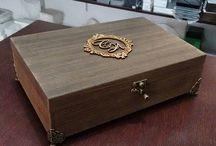 caixa rústica com gel envelhecedor