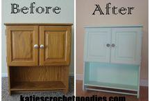 Paintng laminate furniture