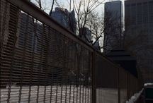 Railing ideas and innovations. / A selection of railing infill panel innovations and ideas.