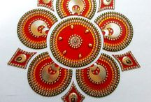acrylic rangolis