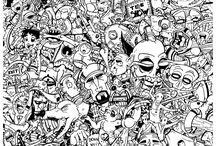 Graffiti & Street Art coloring pages / Our graffiti and street Art coloring pages are incredible ! See more --> http://www.coloring-pages-adults.com/coloring-tags-graffiti/