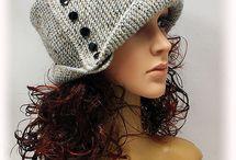 вязанные шляпки