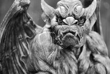 Gargoyles / when I was in France, I fell in love with the gargoyles that were on the tops of the churches in the small towns / by Ruth Ann Stephan Adams