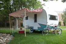 """""""Time Traveler"""" Camping & other travel plans / The reinvention of """"our new"""" 1963 Aristocrat Land Commander.   We're moving up from tent camping and can go at any moment.  Thinking about all the wonderful places we can go, fun things to do and great people we'll meet."""