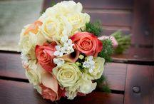 Korall krém esküvő /  Coral, cream wedding  Tihany