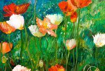 Impressionistic Paints By Angela Mae Cheetham / In The Garden / by Angela Mae Cheetham