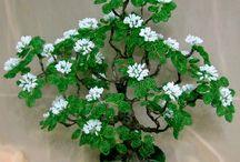 деревья,цветы / идеи для создания деревьев и цветов из бисера