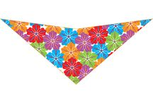 Doggie Triangle Bandanas / Adorable Triangle Dog Bandanas, Proudly Made in the USA with Imported material
