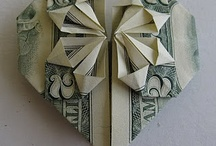 Money heart gift / Paper money