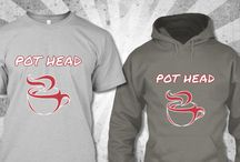Pot Head T-shirt / It's very simple design i hope everyone like it .