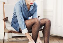 Tights with polka dots