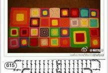 Granny crochet / Haken vierkantjes