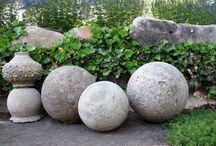 Concrete globes