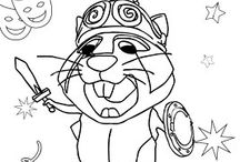 Coloring carnival - Colorear carnaval / Carnival coloring pages, activities for children, children's carnival -- Telmo and Tula -- Dibujos para colorear de Carnaval, actividades para niños, carnaval infantil