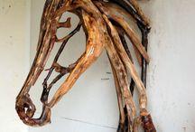 Driftwood/Metal/DIY Garden Art