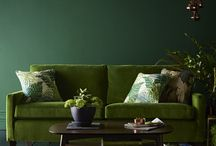 Greenery: Interior Design Inspiration / We've fallen in love with Pantone's 2017 Colour of the Year Greenery; it's lushness brings the great outdoors and feelings of revival into our interior style.  Here are a few ideas on how to work this revitalising hue into your home's style in 2017 or the years to come - it's a beautiful colour scheme after all!