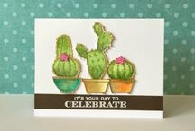 Cards - Succulents & Cacti / Handmade cards featuring Succulents & Cacti images