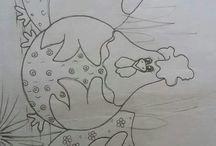 Desenho de galinha