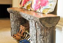 Muebles de troncos