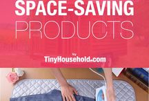 Space Saving Ideas & Products for Small Spaces / Whether in a tiny house, apartment, or other small dwelling, these space saving ideas and products will help to make the most use of your small space. You'll find clever gadgets for your kitchen, living room, bathroom and bedroom. Click through each for more detail!