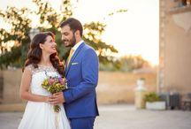 the bride & groom together