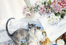 Peintre (Mary Gibbs, Lesley Fotherby) / Chats