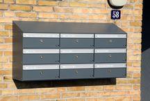 Allux brievenbusunits / Voorbeelden van brievenbussystemen. Te bestellen via onze webshop www.brievenbusdirect.nl.