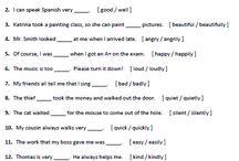 adjetivo e adverbio